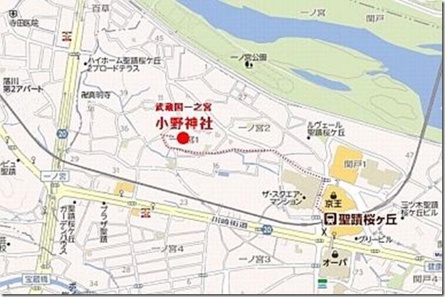 小野神社案内図